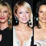 Paris Hilton Lucy Liu and Kate Blanchet wearing Turquoise Earrings