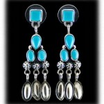 Turquoise - Fashion style Sleeping Beauty Turquoise Earrings